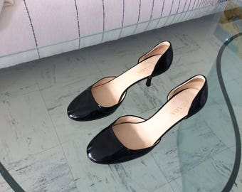 PRADA patent leather black pumps size 39