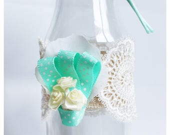 vase soliflore nanny gift personalized glass bottle