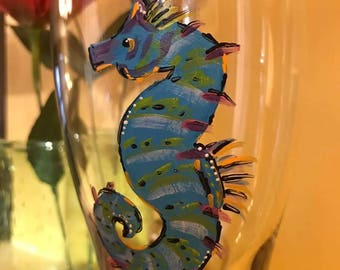 Seahorse Beer Glass
