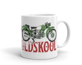 Vintage Classic Motorcycle White Mug Automotive