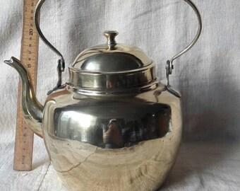 Kettle, polished brass, very decorative