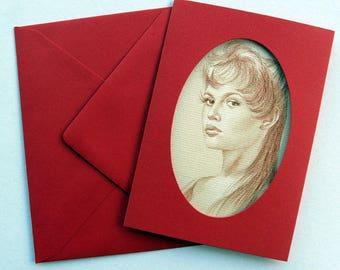 Card portrait of Brigitte Bardot print 10 x 14 cm