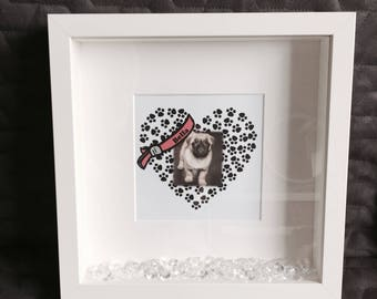 Personalised 'Pet Photo' Print with Frame