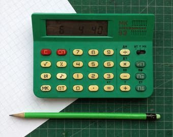 "Calculator ""Electronics MK 93"". 8-bit electronic calculator combined with a clock, calendar, stopwatch and alarm clock."