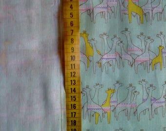 Japanese green giraffe fabric