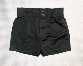 Size 8-10 vintage 70s extra high waist stretchy cheeky hotpant shorts (HY71)