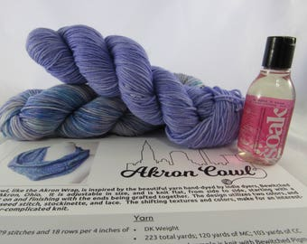 Akron Cowl Knit Gift Set - Pattern, Markers, Yarn, Soak