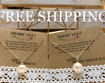 FREE SHIPPING!!! Natural White Freshwater Necklace Set, 925 Sterling Silver Wedding, Mother of the Bride, Mother of the Groom