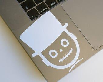 Skull Transfer Sticker, Skull Macbook Decal, Skull Sticker, Skulls stickers, stickers for skateboards, sticker Skull decal, Day of the Dead