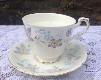 Vintage Teacup & Saucer Honey Scented Candle