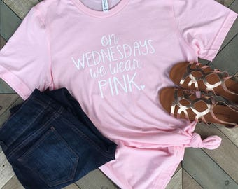 On Wednesday's We Wear Pink. T Shirt.