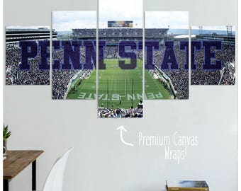 Penn State Nittany Lions Football Canvas Art Print - Special Edition!