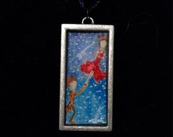 Jack and Acacia -- Hand-Painted Pendant