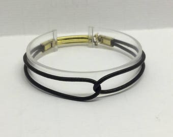 Germau 10k gf leather love knot bracelet  #25