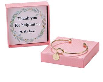 Knot bracelet, bridesmaid bracelet, rose gold/rose/silver knot bracelet, bridesmaid knot bracelet