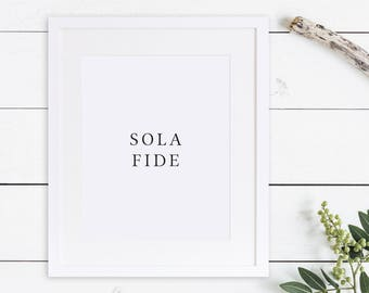 Five Solas Print / 5 Solas / Reformed Theology Print /  5 Solas Print / Reformation Print / Soli Deo Gloria / Coram Deo / Solas / Reformed
