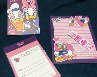 disney Donald and daisy stationery set from japan