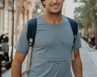 """Blue T-shirt """"Save this Area for the Earth"""" 