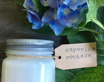 8 oz. Capeside Cottage Pure Soy Candle with Cotton Wick