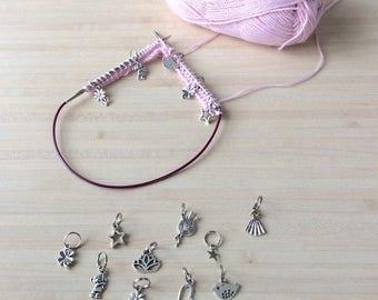 Lot de 10 anneaux marqueurs pour votre tricot - Lot numéro 13
