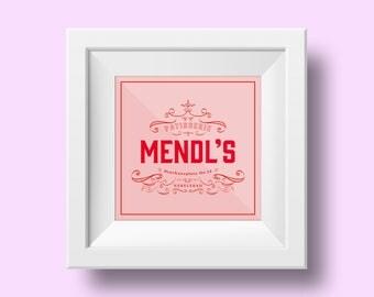 Mendl's, The Grand Budapest Hotel, Print, Art, Pink, Patisserie
