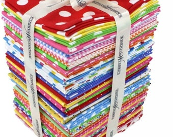 Free Shipping!!! Windham Basic Brights Fat Quarter Bundle - 42 Fat Quarters Bundle for Windham Fabrics - Quilting - Precut Fabrics