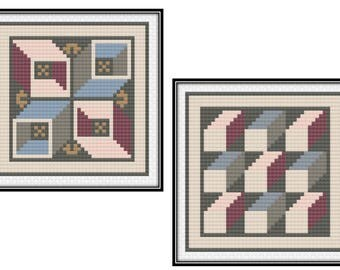 Antioch Mosaic Blocks 3 & 4 (PDF) Cross Stitch Pattern