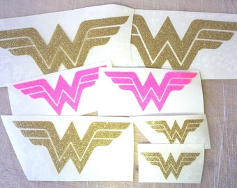 wonder woman Iron on Decal - ww Tank Top Designs - Gold Glitter Iron on wonder woman  - wonder woman Heat Transfer applique, patches