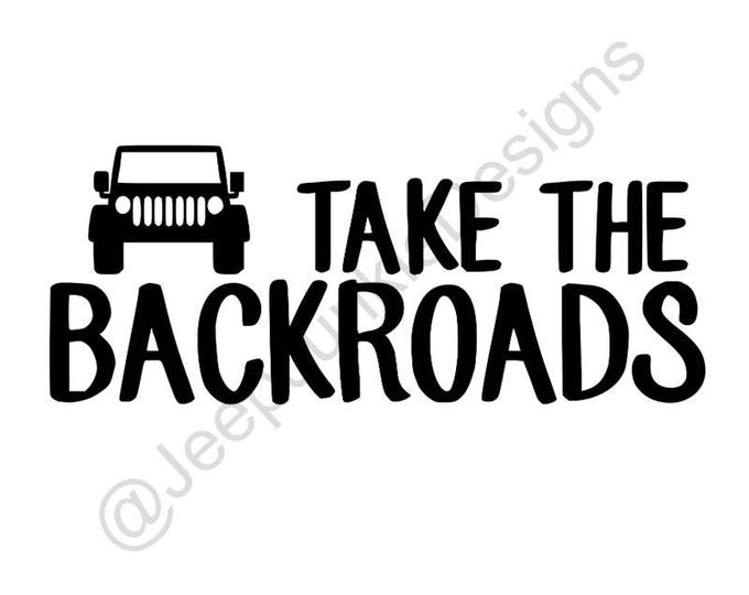 Take the Backroads Jeep Wrangler Sticker
