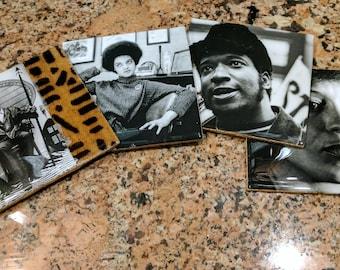 Nambili 'Black Panther Party' Photo Drink Coaster Set