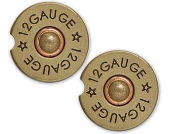 Car Cup Coaster, Cup Holder Coaster, Bullet Photo Custom Auto Gift, Sandstone Coaster, gift for him Guy Car Coaster 12 Gauge