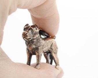 Vakkancs Central Asian Sheepdog minisculpture keychain (3D solid bronze)