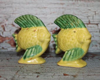 Vintage Ceramic Fish Salt & Pepper Shakers