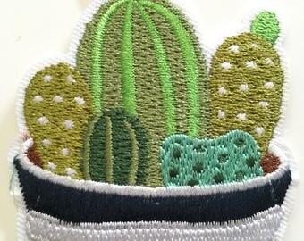 Cacti Pot - Iron on Appliqué Patch