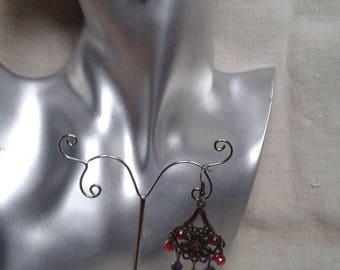 "Earrings ""red and purple wedding"""