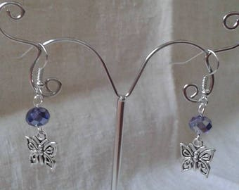 "Earrings ""butterfly crafted"""