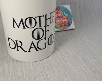 Mug//Game of Thrones//Mothers of Dragons//Mothers Day//Fathers Day//Tea//Coffee//Personalise//Gift//