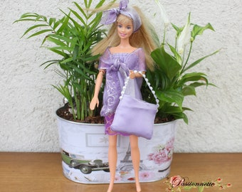 Retro style for Barbie or other doll set. Hand made