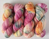 REMINISCE - Hand Dyed Yarn – Choose Weight - Fingering  / Sport / Worsted – Superwash Variegated Yarn
