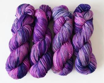 TOMBOY GONE GLAM - Hand Dyed Yarn – Choose Weight - Fingering  / Sport / Worsted – Superwash Variegated SpeckleYarn