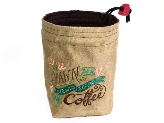 Dice Bag - A Yawn is a Silent Scream for Coffee