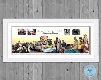 40th birthday gift, Photo  Collage for 40th Birthday, , Photo Montage 40th Birthday, photo collage gift