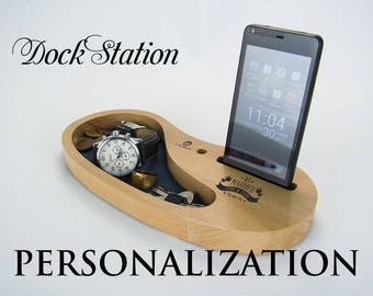 Desk Organizer | iPhone Stand | Birthday Gifts | New Dad Gift |  Gift For Husband | Gift For Brother | Father's Day | D-07