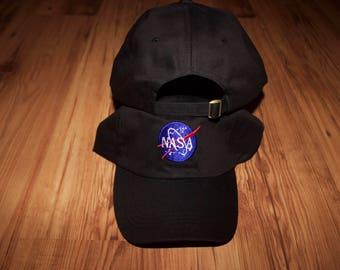 Black NASA baseball cap
