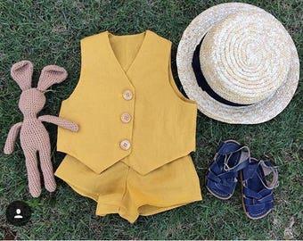 ZIGGY SET// mustard cotton