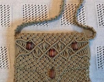 Vintage bohemian macrame bag