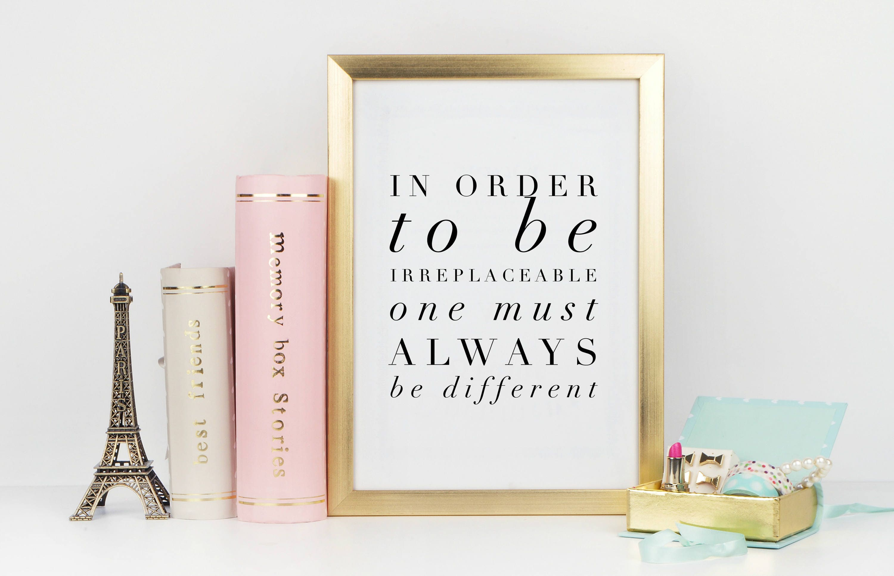 Be irreplaceable coco chanel quote high fashion wall art home be irreplaceable coco chanel quote high fashion wall art home decor chanel artwork chanel wall art quote wall art typography amipublicfo Gallery