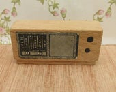 Vintage DolToi Wooden Dolls House Radio  Dolls House Accessory