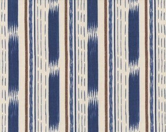 tissu PATCHWORK bleu DEARSTELLADESIGN STRIPES IKAT 57