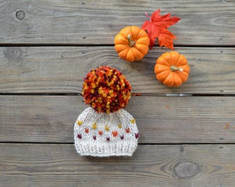Fall Hats for Girls, Toddler Hats for Girls, Fall Beanies, Girl Beanies, Baby Pom Pom Beanies, Beanies for Girls, Girl Pom Pom Beanies